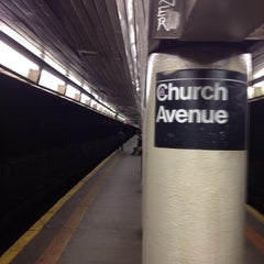 Photo taken at MTA Subway - Church Ave (B/Q) by Manuel B. on 2/18/2012