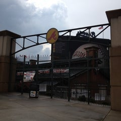 Photo taken at Turner Field - Gold Lot by Kat on 9/8/2012