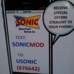 Photo taken at SONIC Drive In by Tom B. on 2/27/2012