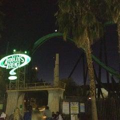 Photo taken at The Riddler's Revenge by Conner S. on 12/28/2011