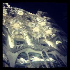 Photo taken at Passeig de Gràcia by Artem K. on 8/8/2012