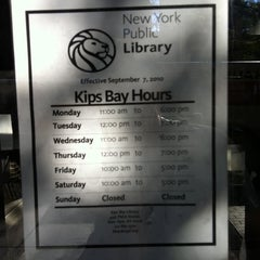 Photo taken at New York Public Library - Kips Bay by Taylor AK S. on 8/11/2011