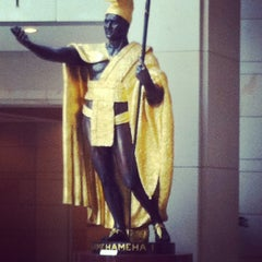 Photo taken at King Kamehameha Statue by Raheim K. on 5/19/2012