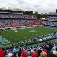 Photo taken at Kenan Memorial Stadium by Bryan A. on 10/27/2012