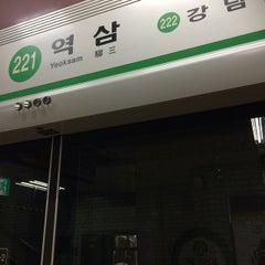 Photo taken at 역삼역 (Yeoksam Stn.) by KeumChan H. on 3/3/2015