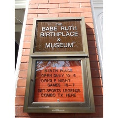Photo taken at Babe Ruth Birthplace & Museum by Miguel G. on 9/28/2014