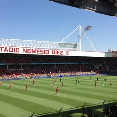 Photo taken at Estadio Nemesio Diez by Luis Enrique B. on 10/21/2012