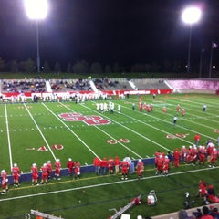 Photo taken at Kenneth P. LaValle Stadium by Deniz I. on 11/4/2012