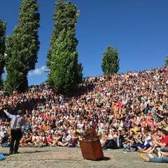 Photo taken at Sonntagskaraoke im Mauerpark by Brian J. on 6/23/2013