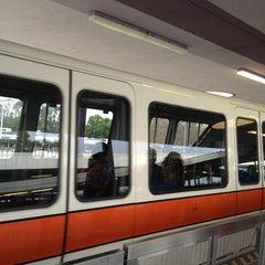 Photo taken at Monorail Orange (Zootopia) by Chris R. on 4/3/2013