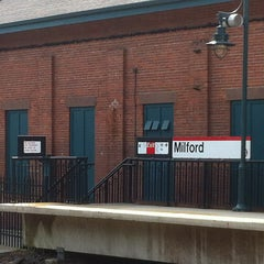 Photo taken at Metro North - Milford Train Station by Daniel P. on 7/14/2013