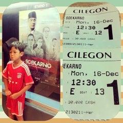 Photo taken at Cinema 21 Cilegon by Moi K. on 12/16/2013