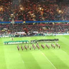 Photo taken at Thomond Park by Shane M. on 11/17/2012