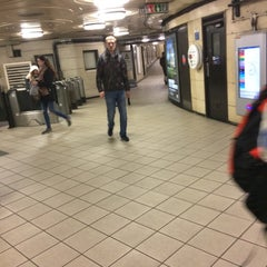 Photo taken at Manor House London Underground Station by Eylül O. on 1/4/2016