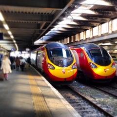 Photo taken at London Euston Railway Station (EUS) by Brandon W. on 4/7/2013