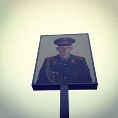 Photo taken at Checkpoint Charlie by Wouter V. on 1/24/2013