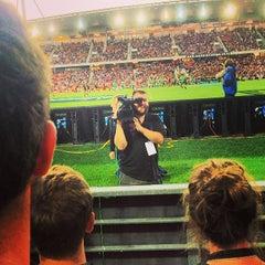 Photo taken at Waikato Stadium by Jesse T. on 3/1/2014