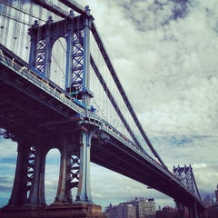 Photo taken at Manhattan Bridge by Eric M. on 7/2/2013
