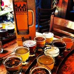 Photo taken at Moon River Brewing Company by Justin H. on 1/26/2013