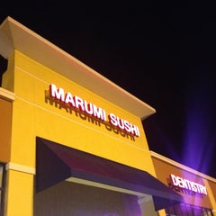 Photo taken at Marumi Sushi by Janelle P. on 8/3/2013