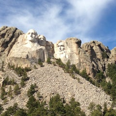 Photo taken at Mount Rushmore National Memorial by Aaron B. on 10/19/2012