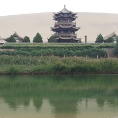 Photo taken at Silk Road Hotel Dunhuang by YOOHEE on 7/7/2014