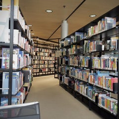 Photo taken at Stadt- und Landesbibliothek Dortmund by Kin Yip T. on 7/22/2014