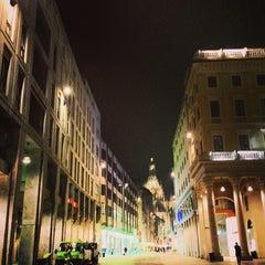 Photo taken at Piazza San Babila by Ego on 3/4/2013