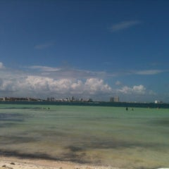 Photo taken at Playa Langosta by VivoEnCancun on 10/14/2012