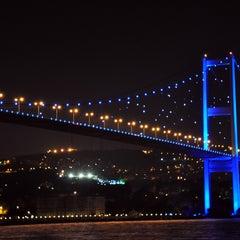 Photo taken at Boğaziçi Köprüsü by Oguz Han E. on 8/22/2013