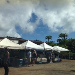 Photo taken at Kahuku Land Farms Fruit Stand by R G. on 6/4/2014