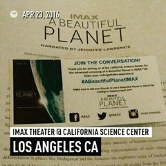 Photo taken at IMAX Theater @ California Science Center by Michael D. on 4/23/2016