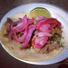 Photo taken at Los Dos Amigos Taco Truck by elena l. on 4/27/2013