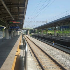 Photo taken at 파주역 (Paju Stn.) by Duck-il James R. on 9/8/2013