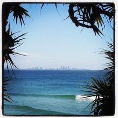 Photo taken at Coolangatta Beach by Ben A. on 9/15/2012