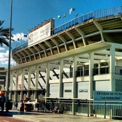 Photo taken at Estadio La Rosaleda by Sunny on 3/15/2013