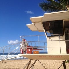 Photo taken at Makaha Beach Park by Lika J. on 10/28/2012