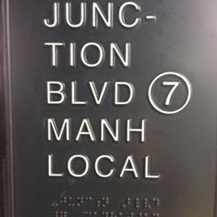 Photo taken at MTA Subway - Junction Blvd (7) by Coco E. on 12/17/2012