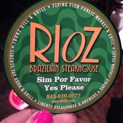 Photo taken at Rioz Brazilian Steakhouse by Amanda C. on 3/29/2013