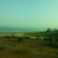 Photo taken at Devbagh Beach by Saurabh P. on 3/30/2013