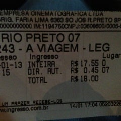 Photo taken at Sala Vip Cinema by Matheus C. on 1/14/2013