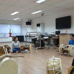 Photo taken at Jakarta International Korean School by Annisa L. on 12/21/2012