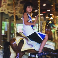 "Photo taken at Congress Park Carousel by Marlene ""Sweetaloha808"" C. on 5/17/2015"