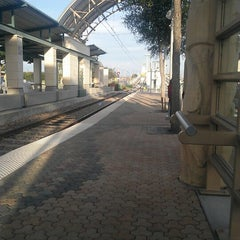 Photo taken at Downtown Garland Station (DART Rail) by Steven G. on 10/24/2012