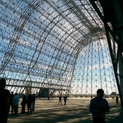 Photo taken at Hangar One (Building 1) by Serena T. on 10/22/2014