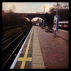 Photo taken at North Acton London Underground Station by Paola S. on 1/11/2013