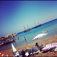 Photo taken at Escape Beach Club by Alper H. on 9/17/2012