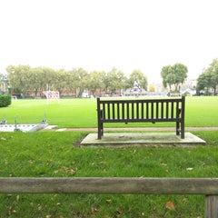 Photo taken at Vincent Square Playing Fields by Chris H. on 10/19/2015