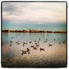 Photo taken at Sloan's Lake Park by Hakan Y. on 11/7/2012