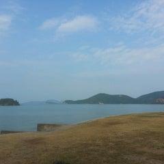 Photo taken at หาดเตยงาม (Teay Ngam Beach) by Dream on 1/16/2013